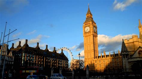 Time-lapse of Big Ben and buildings in London England