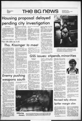 """""""The BG News November 15, 1972"""" by Bowling Green State"""