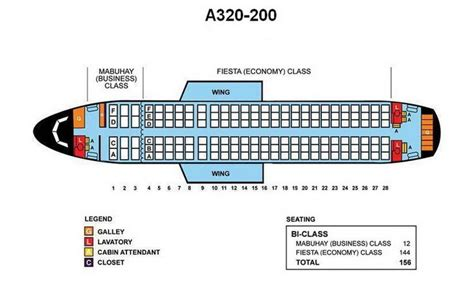 PHILIPPINE AIRLINES AIRBUS A330-200 AIRCRAFT SEATING CHART   Airline Seating Charts